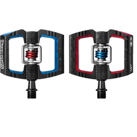 Crankbrothers Mallet DH Pédales Super Bruni Edition, black/red/blue